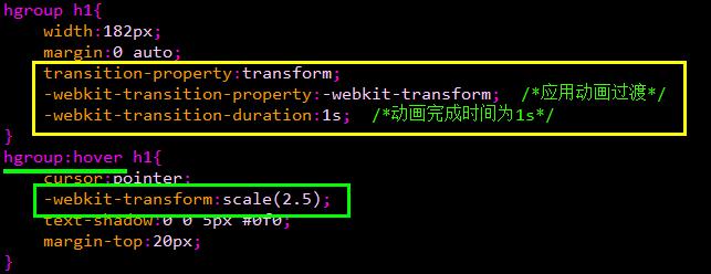 <span class='schwords'>CSS3动画</span>基本的转换和过渡