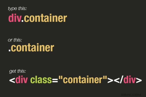 学习Emmet(Zen coding)HTML代码小技巧