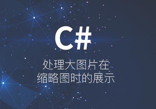 C#处理大图片在缩略图时的展示