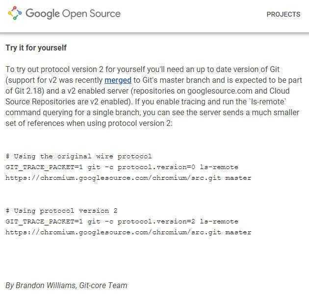 谷歌宣布推出第二个版本Git协议:带来显著的性能提升