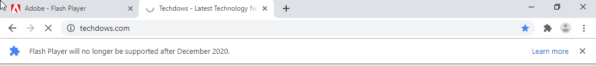 "Chrome 78可选在2周内忽略""Flash停用倒计时""提示"