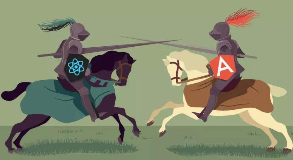 入门前端框架的必备知识点:深度比较React和Angular